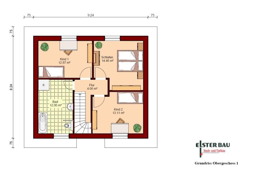 Stadtvilla Mit Versetztem Obergeschoss Außenmaße: 10,74 M X 9,74 M.  Vollgeschosse: 2. Wohnfläche Nach DIN 277: 134,85 M². Nettogrundfläche:  142,47 M²