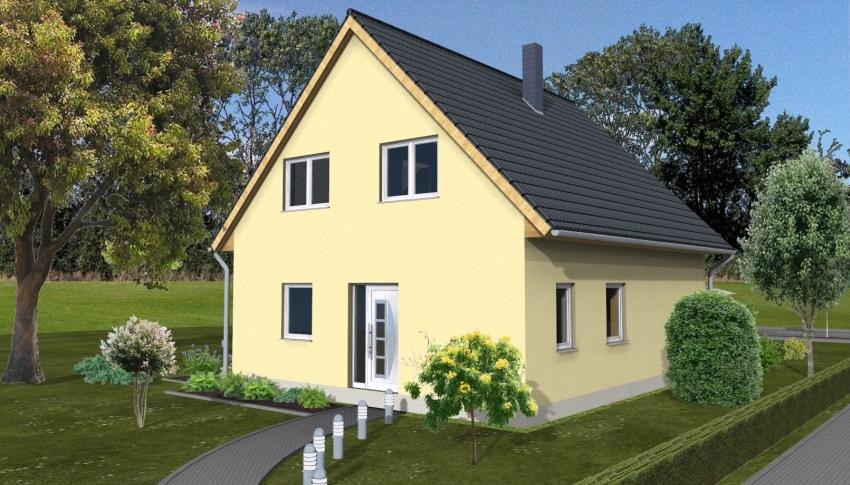 Wohnhaus 1 ½  Geschossig. Außenmaße: 9,58 M X 8,10 M. Vollgeschosse: 1,5. Wohnfläche  Nach DIN 277: 107,15 M². Nettogrundfläche: 121,81 M². Dachneigung: 45°